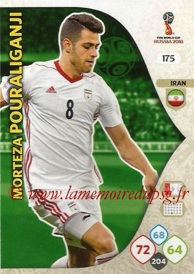 2018 - Panini FIFA World Cup Russia Adrenalyn XL - N° 175 - Morteza POURALIGANJI (Iran)