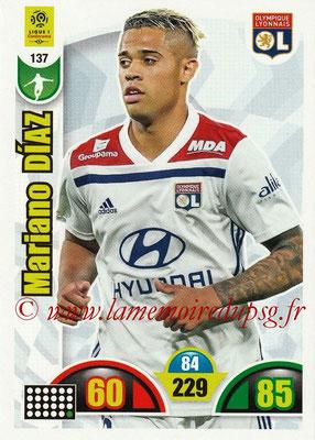 2018-19 - Panini Adrenalyn XL Ligue 1 - N° 137 - Mariano DIAZ MEJIA (Lyon)