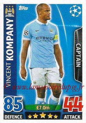 2015-16 - Topps UEFA Champions League Match Attax - N° 040 - Vincent KOMPANY (Manchester City FC) (Captain)