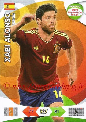 2014 - Panini Road to FIFA World Cup Brazil Adrenalyn XL - N° 081 - Xabi ALONSO (Espagne)