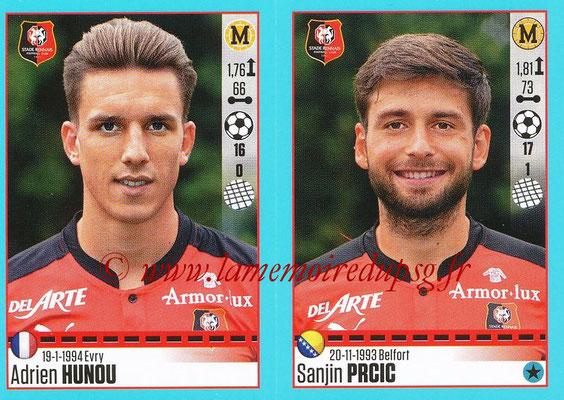 2016-17 - Panini Ligue 1 Stickers - N° 748 + 749 - Adrien HUNOU + Sanjin PRCIC (Rennes)