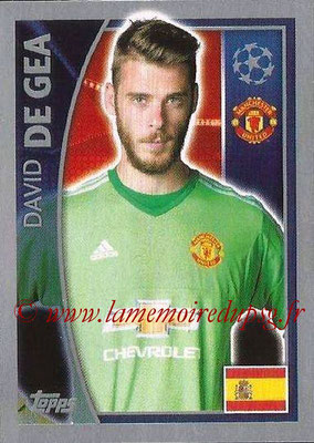 2015-16 - Topps UEFA Champions League Stickers - N° 105 - David DE GEA (Manchester United FC)