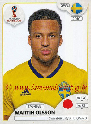 2018 - Panini FIFA World Cup Russia Stickers - N° 478 - Martin OLSSON (Suede)