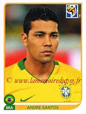 2010 - Panini FIFA World Cup South Africa Stickers - N° 494 - André SANTOS (Brésil)