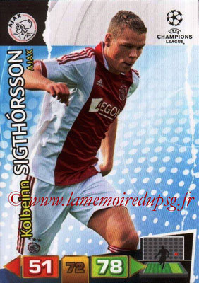 2011-12 - Panini Champions League Cards - N° 010 - Kolbeinn SIGTHORSSON (AFC Ajax)