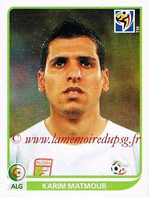 2010 - Panini FIFA World Cup South Africa Stickers - N° 235 - Karim MATMOUR (Algérie)