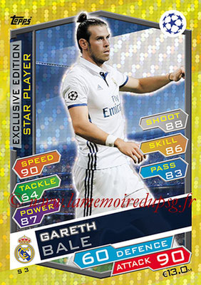 2016-17 - Topps UEFA Champions League Match Attax - N° S3 - Gareth BALE (Real Madrid CF) (Star Player) (Exclusive Edition)