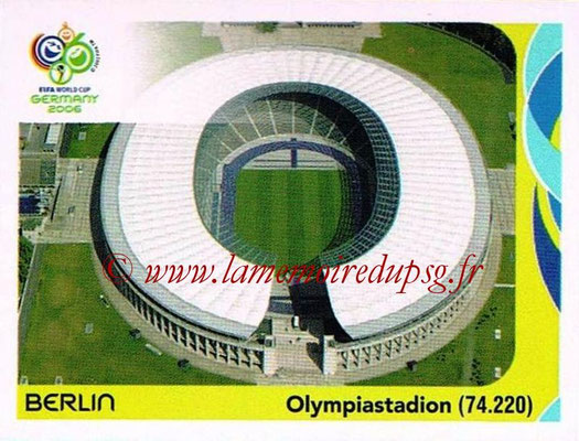 2006 - Panini FIFA World Cup Germany Stickers - N° 007 - Berlin - Olympiastadion
