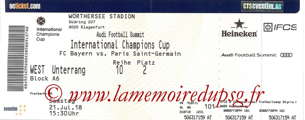 Tickets  Bayern Munich-PSG  2018-19