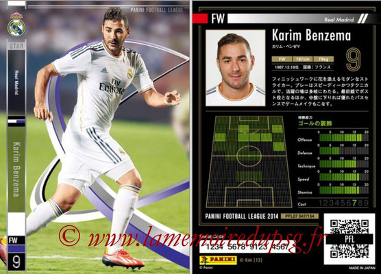 Panini Football League 2014 - PFL07 - N° 047 - Karim BENZEMA (Real Madrid) (Star)