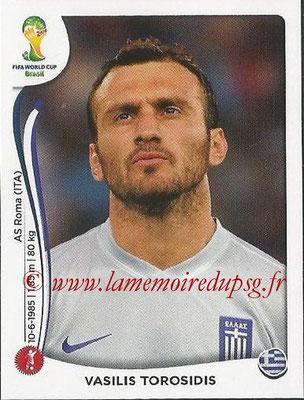 2014 - Panini FIFA World Cup Brazil Stickers - N° 206 - Vasilis TOROSIDIS (Grèce)