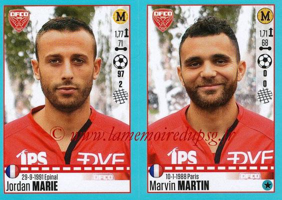 2016-17 - Panini Ligue 1 Stickers - N° 206 + 207 - Jordan MARIE + Marvin MARTIN (Dijon)