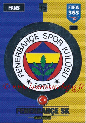 2016-17 - Panini Adrenalyn XL FIFA 365 - N° 275 - Logo Fenerbahçe SK (Club Badge)