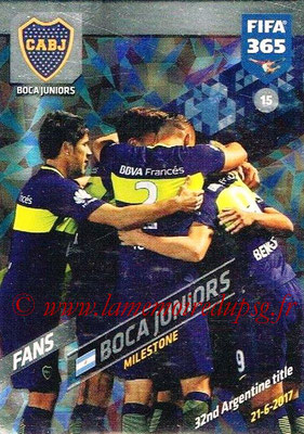 2017-18 - Panini FIFA 365 Cards - N° 015 - Célébration Boca Juniors (Milestone)