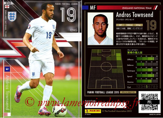 Panini Football League 2015 - PFL14 - N° 092 - Andros TOWNSEND (Angleterre) (Star)