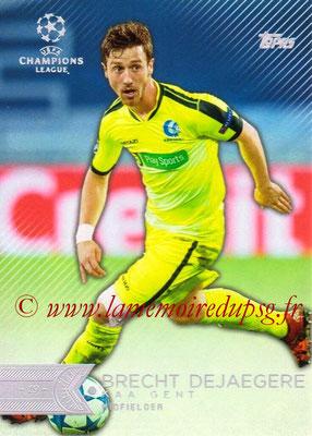 2015-16 - Topps UEFA Champions League Showcase Soccer - N° 192 - Brecht DEJAEGERE (KAA Gent)