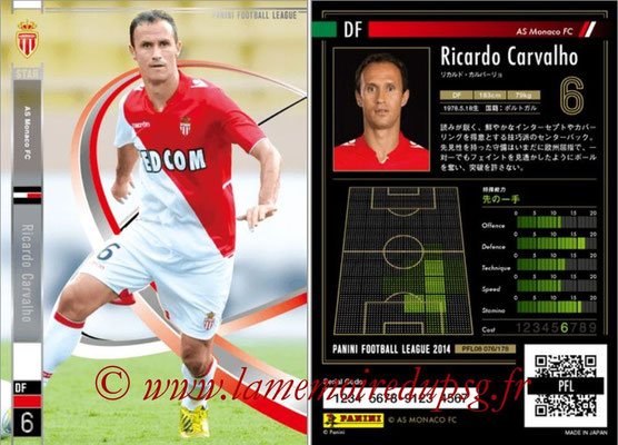 Panini Football League 2014 - PFL08 - N° 076 - Ricardo CARVALHO (AS Monaco) (Star)