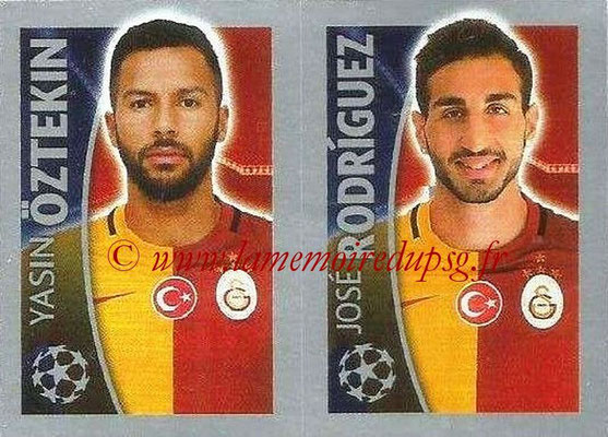 2015-16 - Topps UEFA Champions League Stickers - N° 205 - Yasin ÖZTEKIN + José RODRIGUEZ (Galatasaray AS)