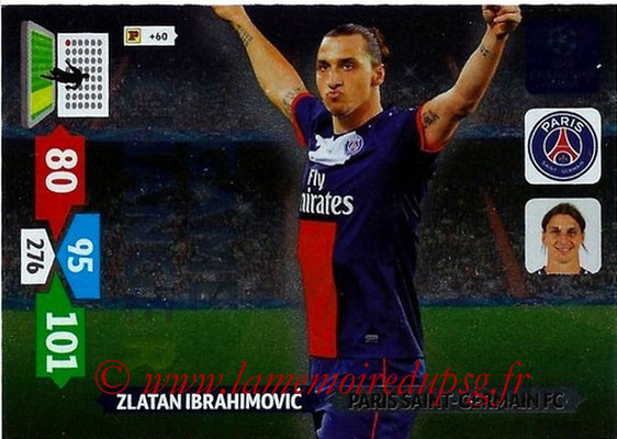 2013-14 - Adrenalyn XL champions League N° 348 - Zlatan IBRAHIMOVIC (Paris Saint-Germain) (Game Changer)