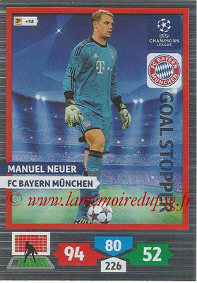 2013-14 - Adrenalyn XL champions League N° 321 - Manuel NEUER (FC Bayern de Munich) (Goal Stopper)