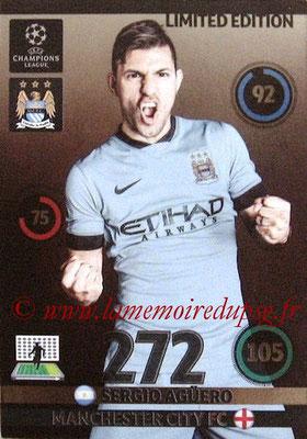 2014-15 - Adrenalyn XL champions League N° LE-SA - Sergio AGUERO (Manchester City FC) (Limited Edition)