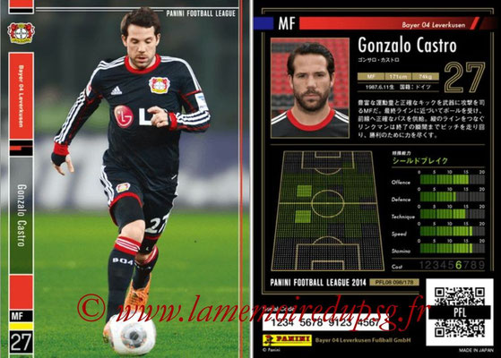 Panini Football League 2014 - PFL08 - N° 098 - Gonzalo CASTRO (Bayer Leverkusen)