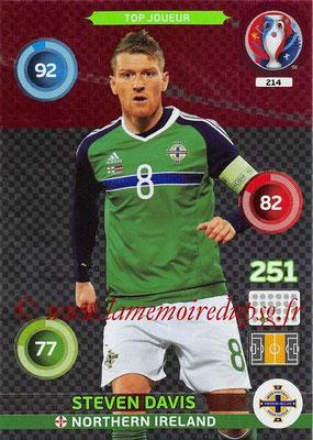Panini Euro 2016 Cards - N° 214 - Steven DAVIS (Irlande du Nord) (Top Joueur)