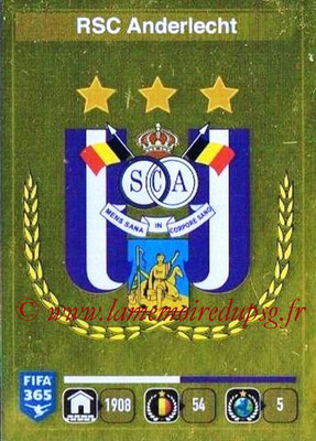 2015-16 - Panini FIFA 365 Stickers - N° 131 - Ecusson RSC Anderlecht