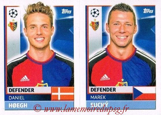 2016-17 - Topps UEFA Champions League Stickers - N° BAS 8-9 - Marek SUCHY + Daniel HOEGH (FC Basel 1893)