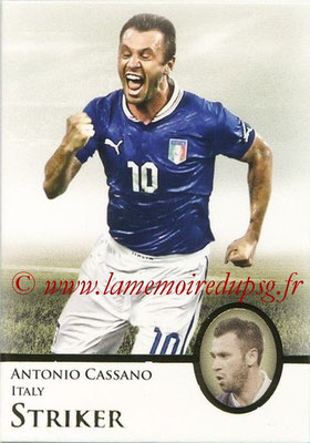 2013 - Futera World Football Unique - N° 068 - Antonio CASSANO (Italie) (Striker)