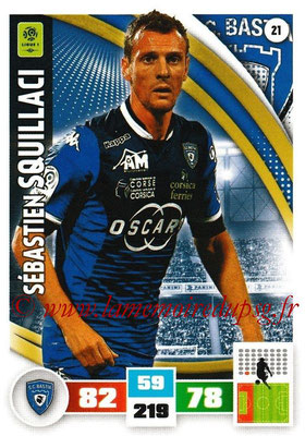 2016-17 - Panini Adrenalyn XL Ligue 1 - N° 021 - Sébastien SQUILLACI (Bastia)