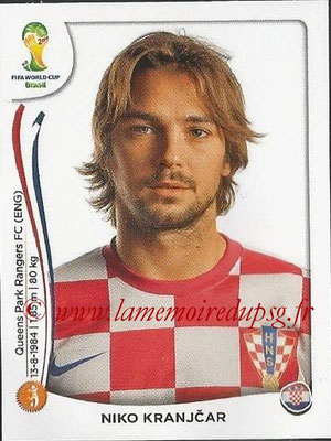 2014 - Panini FIFA World Cup Brazil Stickers - N° 061 - Niko KRANJCAR (Croatie)