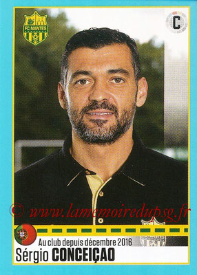 2016-17 - Panini Ligue 1 Stickers - N° T34 - Sergio CONCEICAO (Entraîneur Nantes) (Set Transfert)