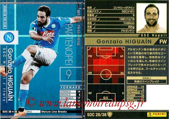 2015-16 - Panini WCCF - N° SOC28 - Gonzalo HIGUAIN (SSC Naples) (Stars Of The Club)