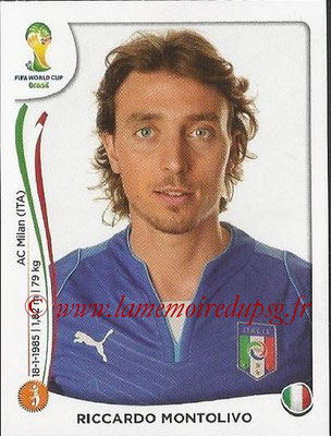 2014 - Panini FIFA World Cup Brazil Stickers - N° 328 - Riccardo MONTOLIVO (Italie)