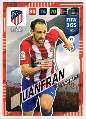 2017-18 - Panini FIFA 365 Cards - N° 091 - JUANFRAN (Atletico Madrid)
