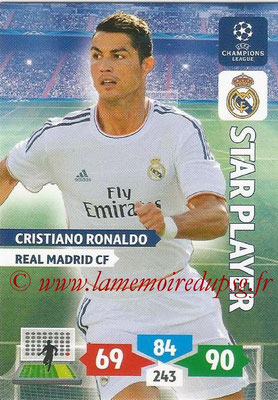 2013-14 - Adrenalyn XL champions League N° 242 - Cristiano RONALDO (Real Madrid CF) (Star Player)