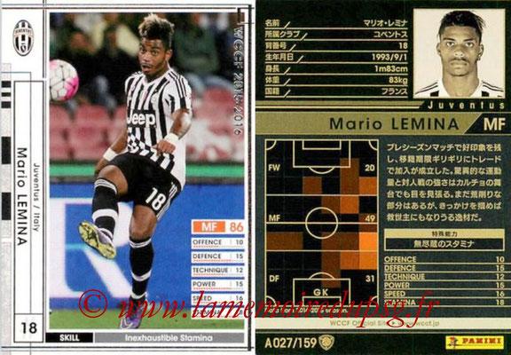 2015-16 - Panini WCCF - N° A027 - Mario LEMINA (Juventus FC)