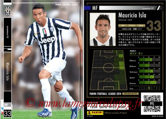 Panini Football League 2014 - PFL08 - N° 012 - Mauricio ISLA (Juventus FC)