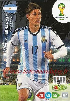 2014 - Panini FIFA World Cup Brazil Adrenalyn XL - N° 009 - Federico FERNANDEZ (Argentine)