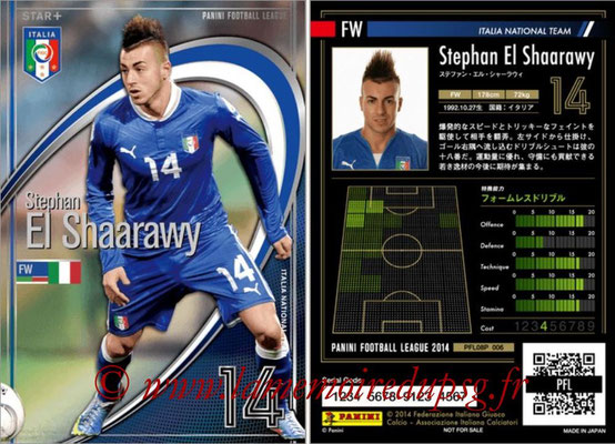 Panini Football League 2014 - PFL08P - N° 006 - Stephan EL SHAARAWY (Italie) (Star +)