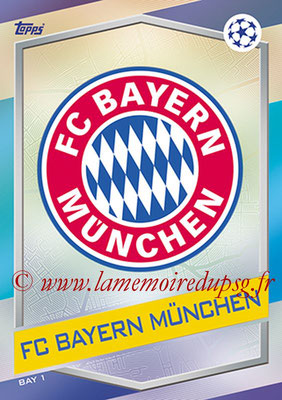 2016-17 - Topps UEFA Champions League Match Attax - N° BAY1 - Logo FC Bayern Munich
