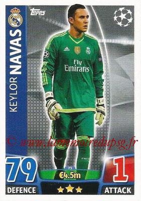2015-16 - Topps UEFA Champions League Match Attax - N° 073 - Keylor NAVAS (Real Madrid CF)