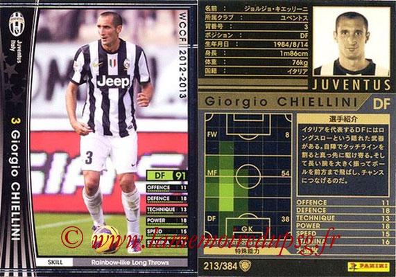 2012-13 - WCCF - N° 213 - Giorgio CHIELLINI (Juventus FC)