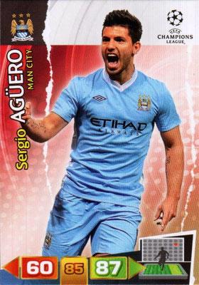 2011-12 - Panini Champions League Cards - N° 141 - Sergio AGÜERO (Manchester City FC)