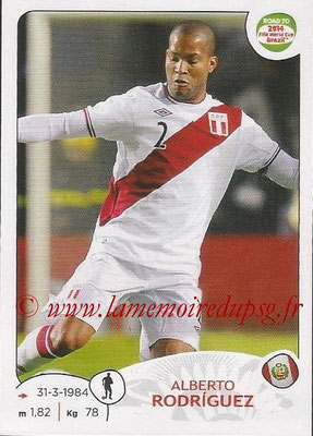 2014 - Panini Road to FIFA World Cup Brazil Stickers - N° 218 - Alberto RODRIGUEZ (Pérou)