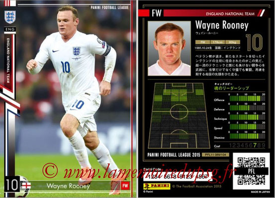 Panini Football League 2015 - PFL11 - N° 089 - Wayne ROONEY (Angleterre)