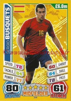 Topps Match Attax England 2014 - N° 209 - Sergio BUSQUETS (Espagne)