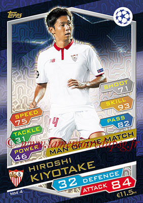 2016-17 - Topps UEFA Champions League Match Attax - N° MM4 - Hiroshi KIYOTAKE (FC Seville) (Man of the Match)