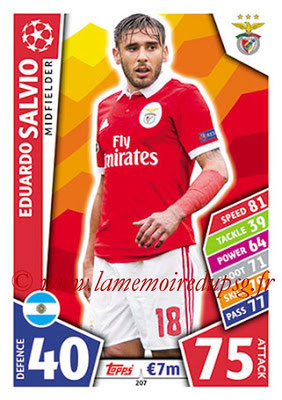 2017-18 - Topps UEFA Champions League Match Attax - N° 207 - Eduardo SALVIO (SL Benfica)